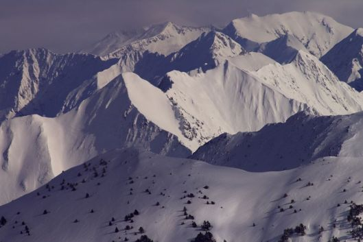 Una vista de los Pirineos, España